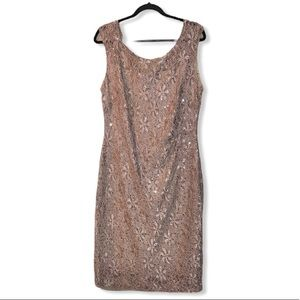 Connected Apparel sequined lace dress